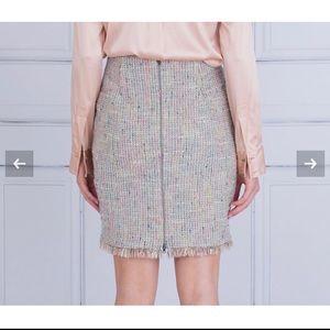 Marc Cain Tweed Raw Hem Skirt